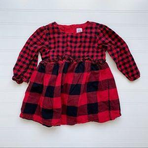 Baby Gap Red Black Buffalo Plaid Dress